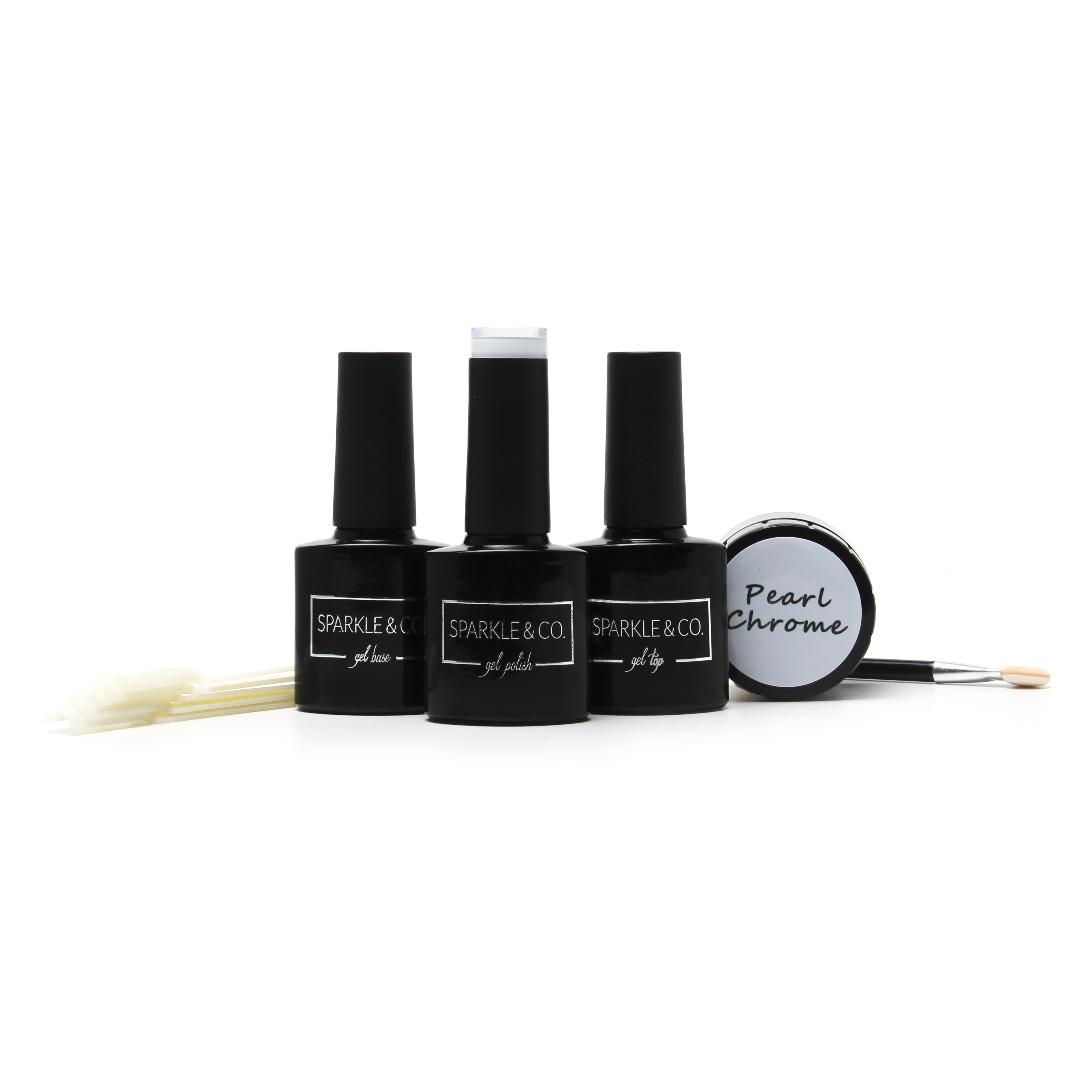 Deluxe GEL Pearl Chrome Pure Powder Kit by Sparkle & Co.