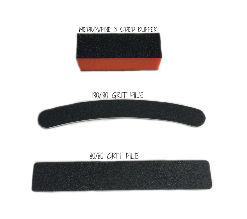3 Pack - 1 Buffer/Sanding Block and 2 Nail Files