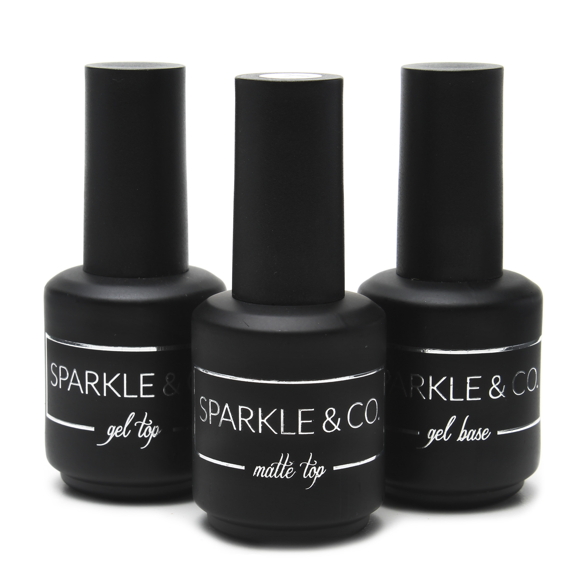 Gel Base, Gel Top & Matte Top 15ml Trio