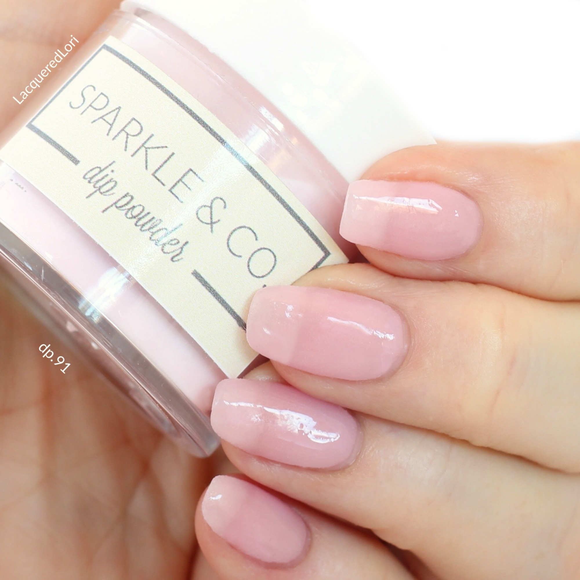 Sparkle Amp Co Dip Powders Dp 91 Light Pink French