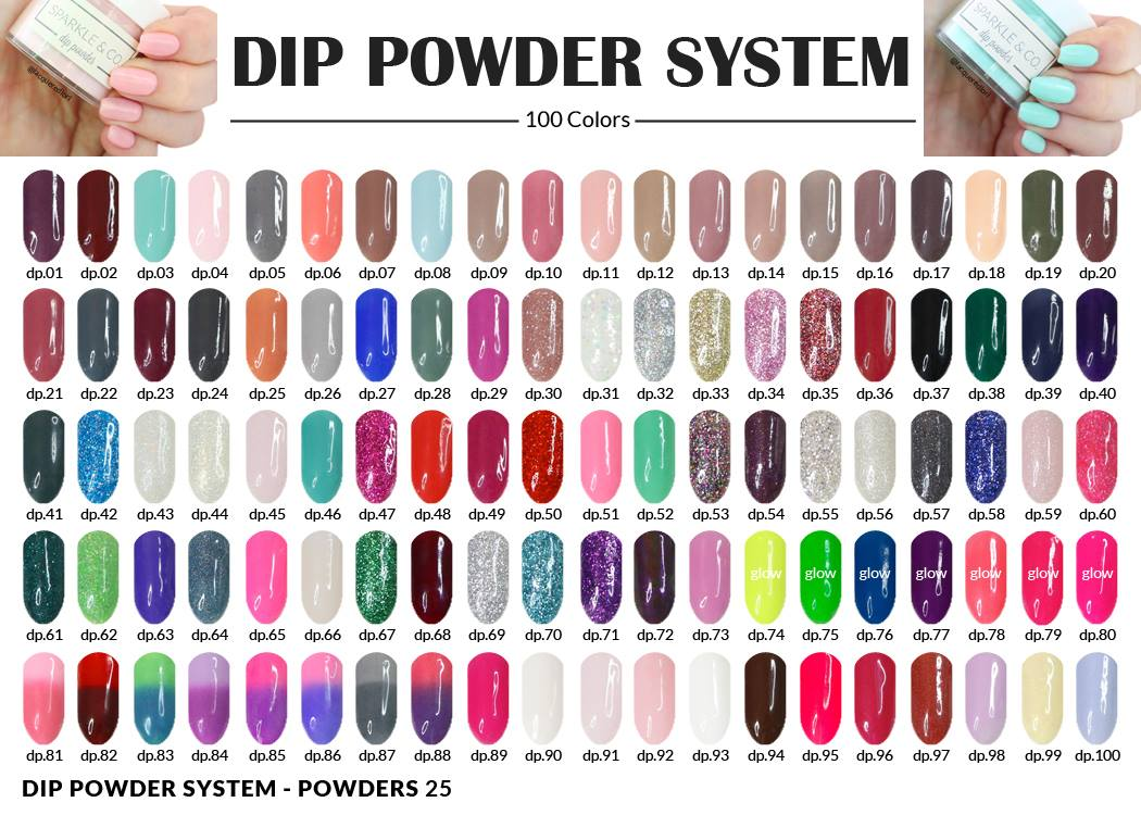 1 oz. Dip Powder - 100 Colors - Sparkle and Co.