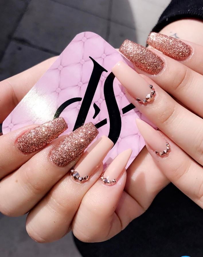 Rose Gold Glitter Dip Sparkle And Co